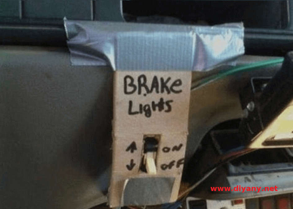 Funny pictures - light brakes of the car