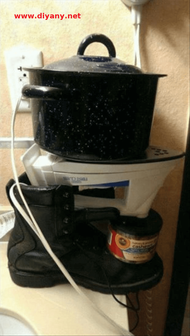 Funny pictures - what everything needs to be used to put the pot, but it does not pass on the day