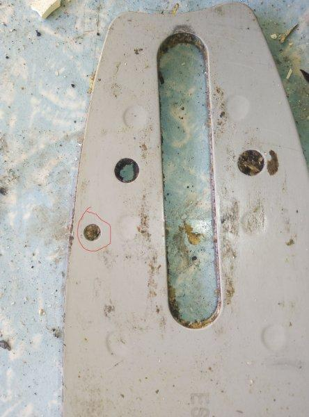 The hole blade oiling