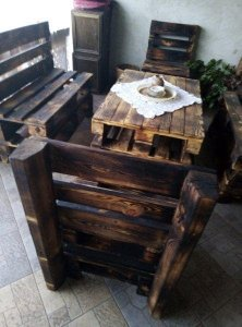 Garden furniture from pallets