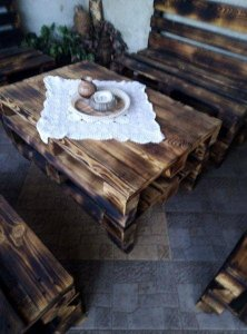 Table from euro pallets
