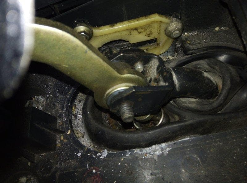 Gear lever in wrong position