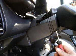 Bottom plastic for turn signal switch
