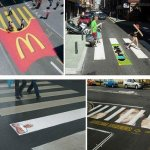 Branded pedestrian crossings